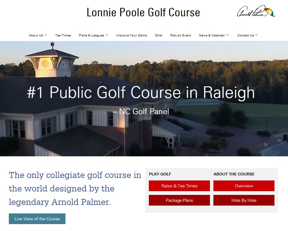 Photo of Lonnie Poole Golf Course Website