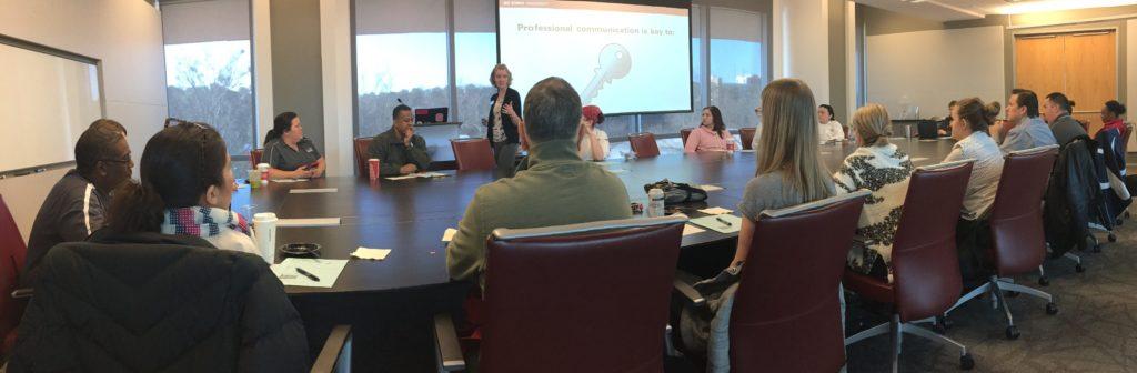 Annaka facilitating a professional development workshop in Talley.