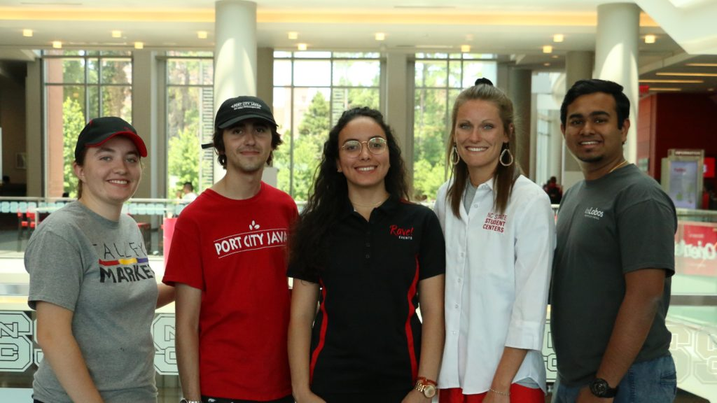 Group of Campus Enterprises student employees in Talley